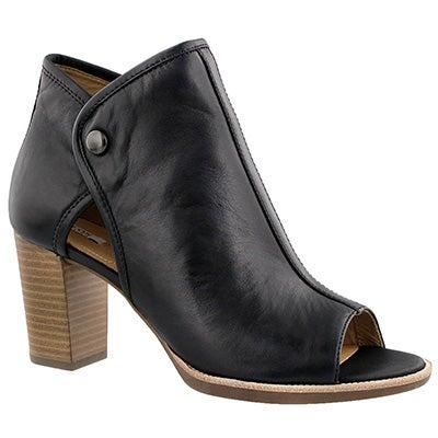 Lds Callie black peep toe dress bootie