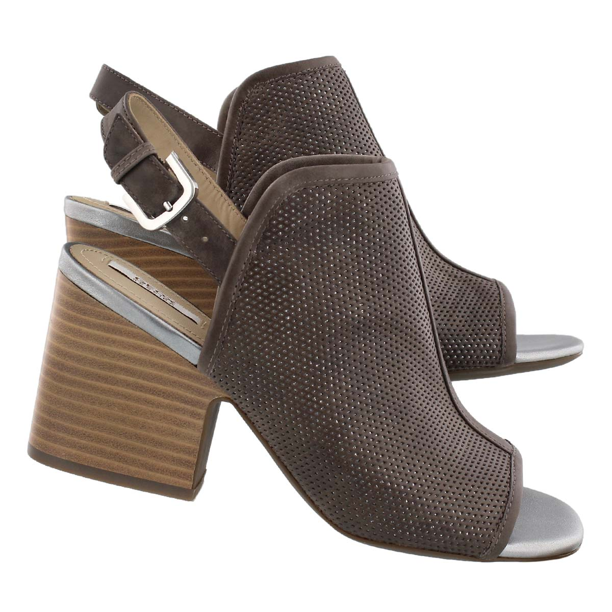 Lds Marilyse C taupe/silver dress sandal
