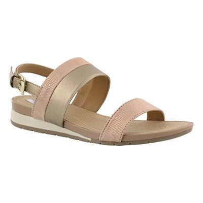 Lds Formosa rose gold wedge sandal