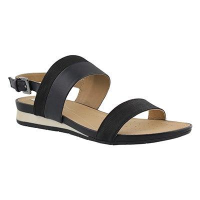 Lds Formosa black wedge sandal