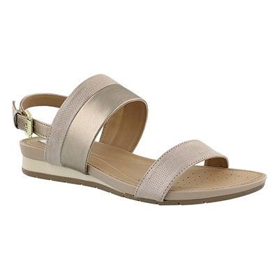 Lds Formosa champagne wedge sandal