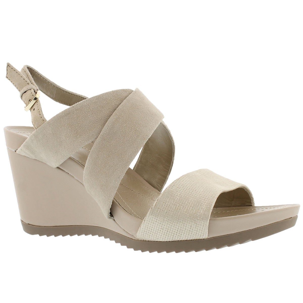 Women's NEW RORIE A taupe/gold wedge sandals