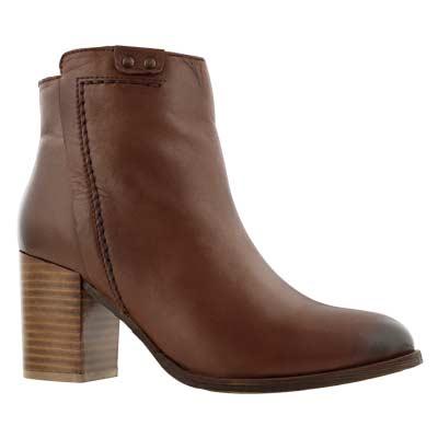 Women's DACIA tan ankle booties