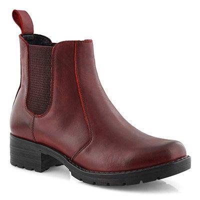Lds Daelyn burgundy chelsea boot