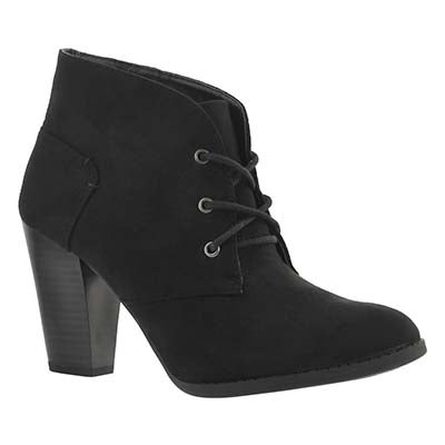 SoftMoc Women's DAHLIA black lace up dress booties