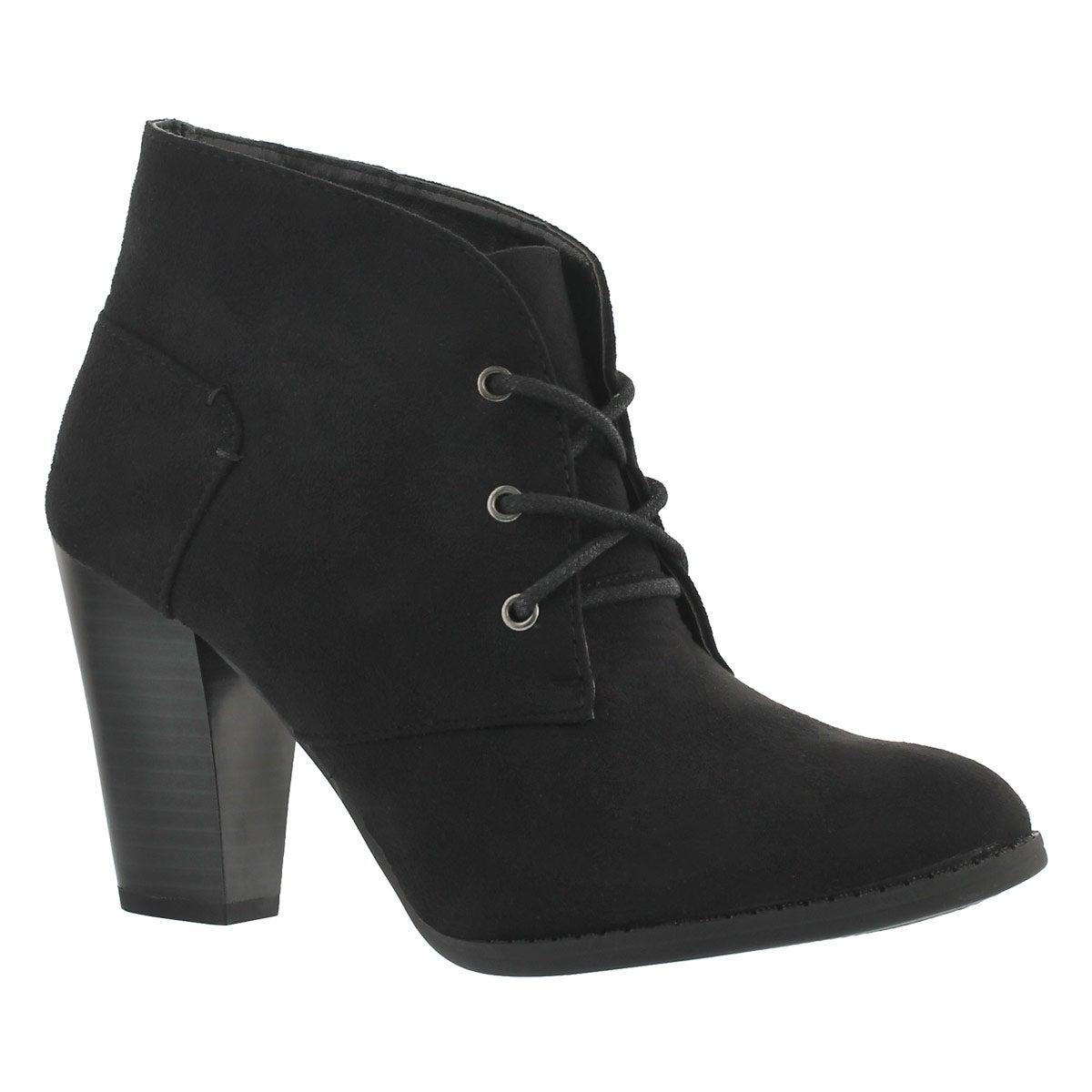 Lds Dahlia black lace up dress bootie