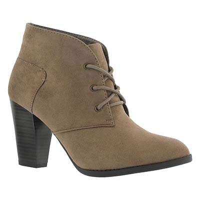 Lds Dahlia cement lace up dress bootie