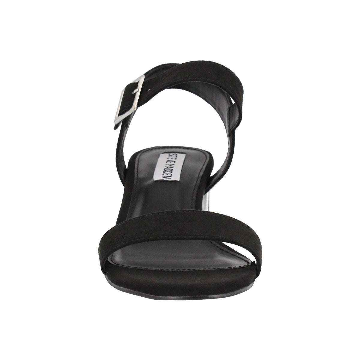 Lds Dainty black ankle strap dress sndl