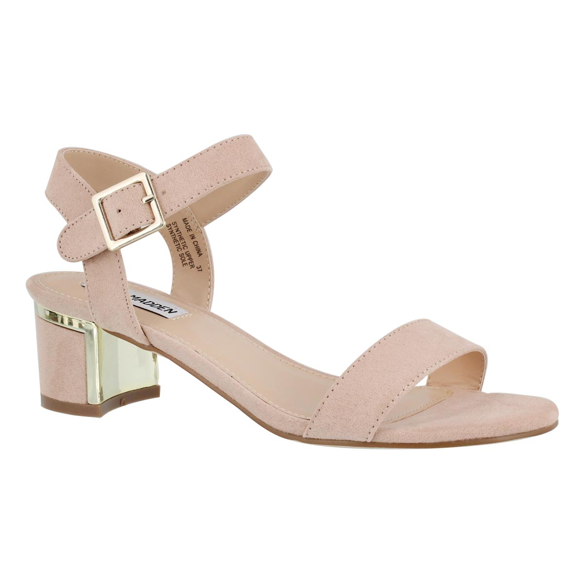 Women's DAINTY pink ankle strap dress sandals
