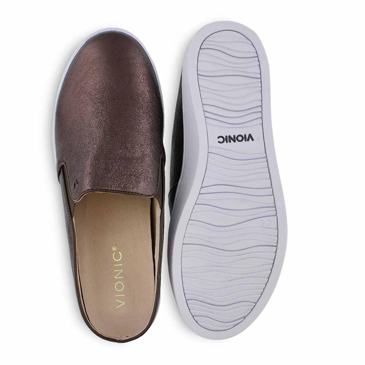 Lds Dakota brnz mtlc casual slip on shoe