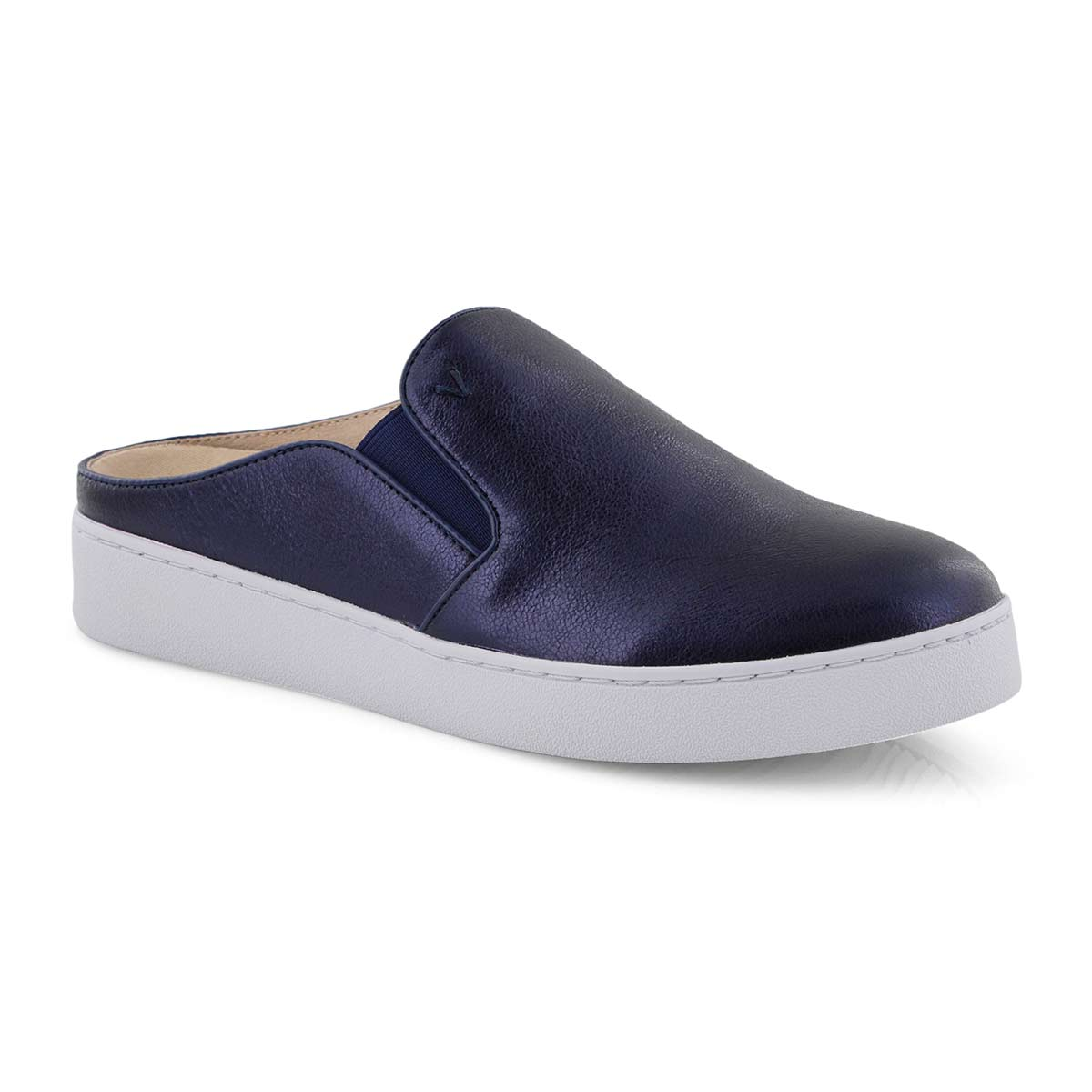 Lds Dakota navy mtlc casual slip on shoe