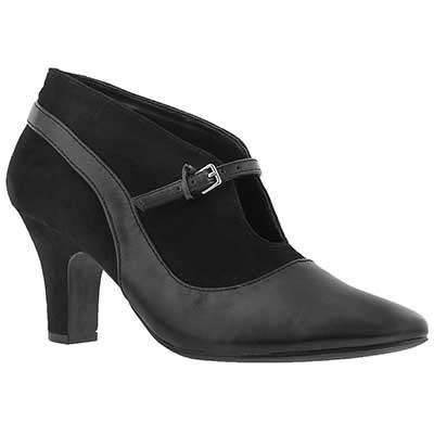 SoftMoc Women's DALILAH black lace dress heels