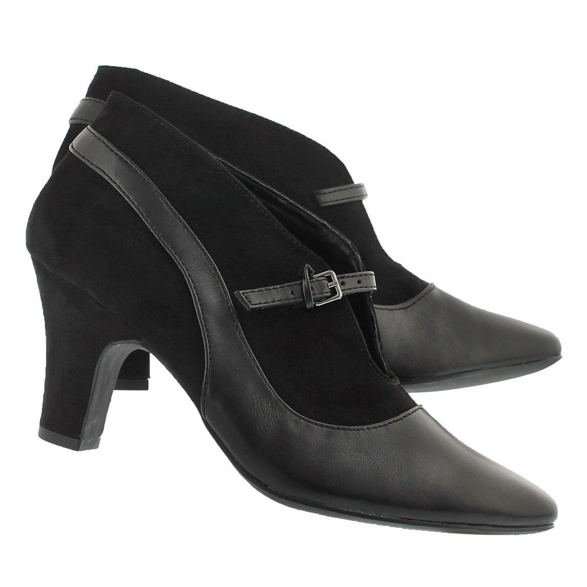 Lds Dalilah blk slip on dress heel