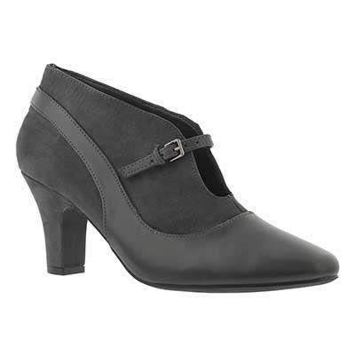 SoftMoc Women's DALILAH grey slip on dress heels
