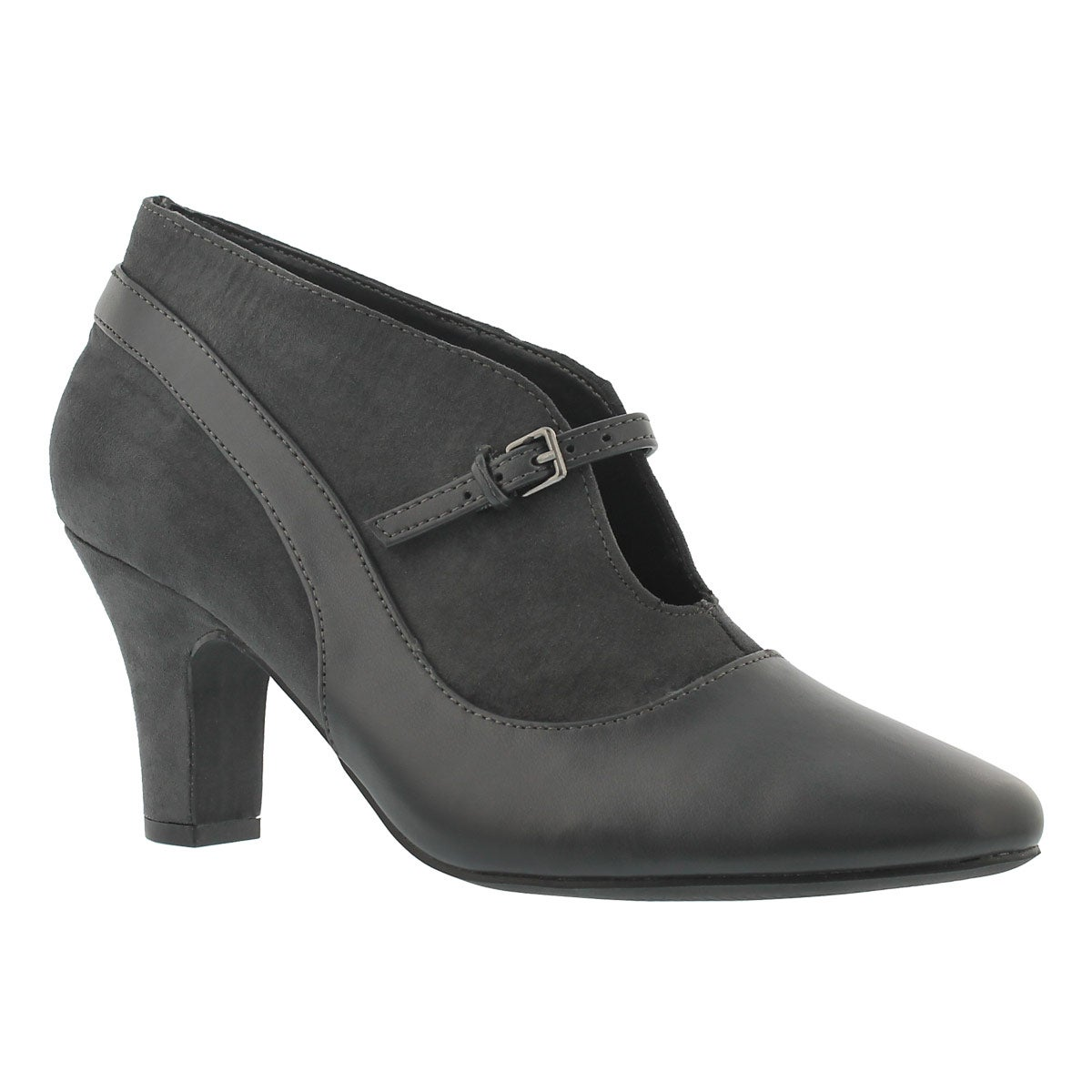 Women's DALILAH grey slip on dress heels