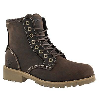 SoftMoc Women's DALISSE dark brown casual combat boots