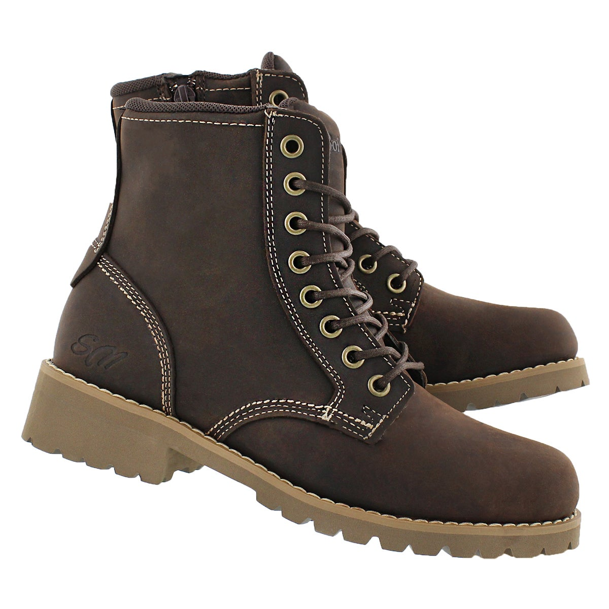 Lds Dalisse dk brn casual combat boot