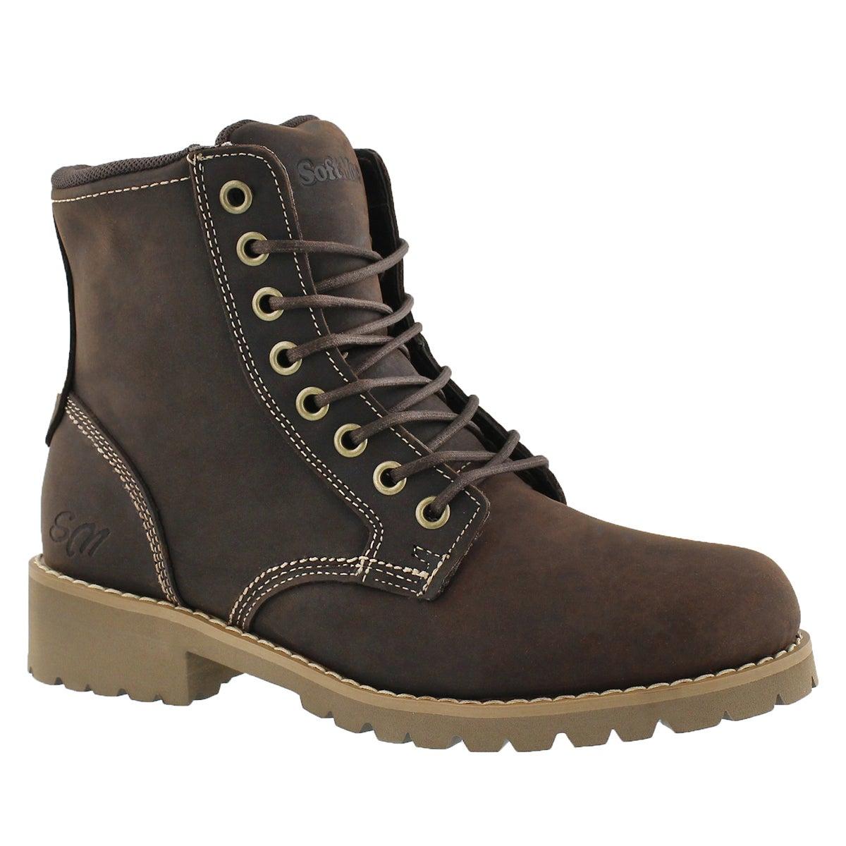 Women's DALISSE dark brown casual combat boots