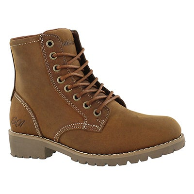 SoftMoc Women's DALISSE tan casual combat boots