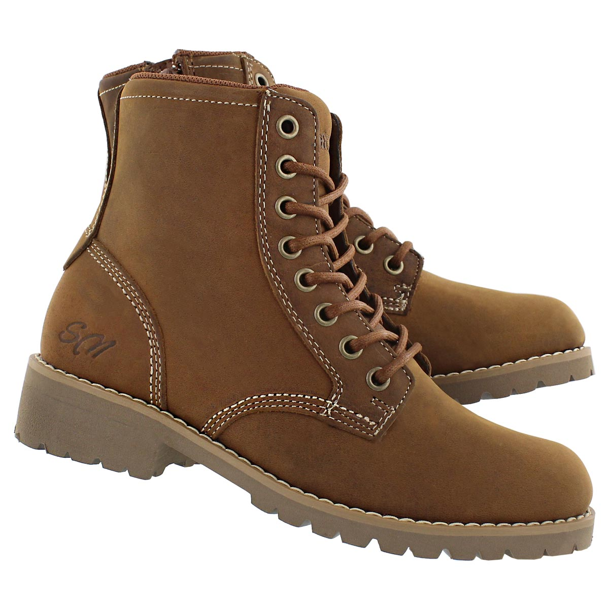Lds Dalisse tan casual combat boot