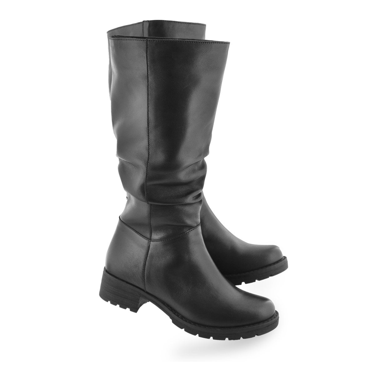 Lds Damaris black casual mid calf boot