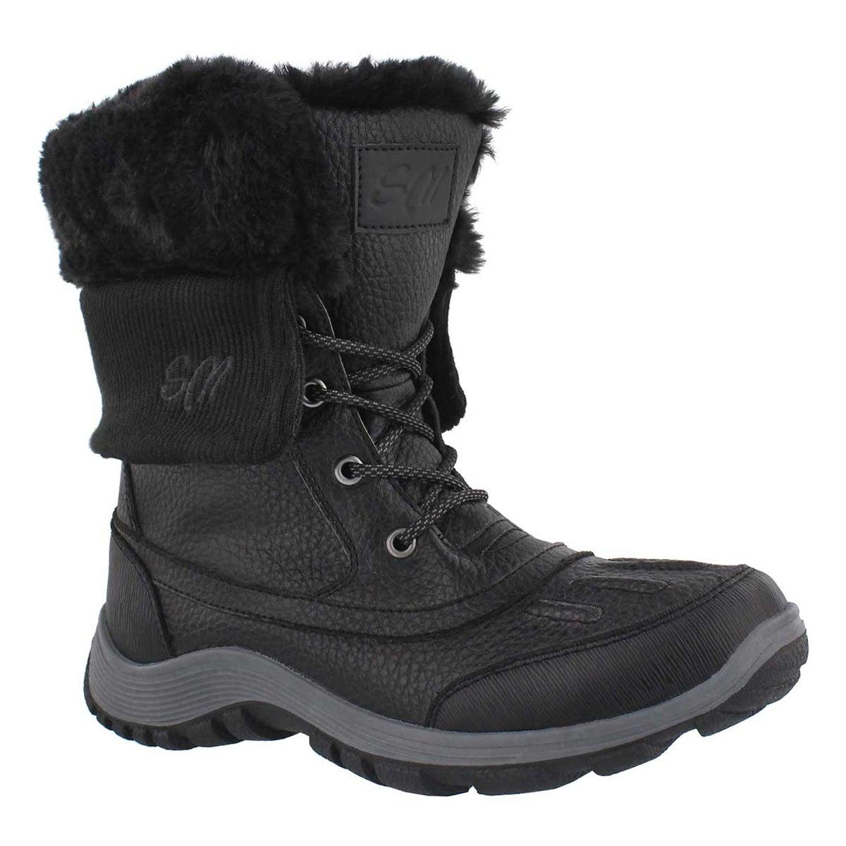 Women's DAMICA black wtrpf foldover cuff boots