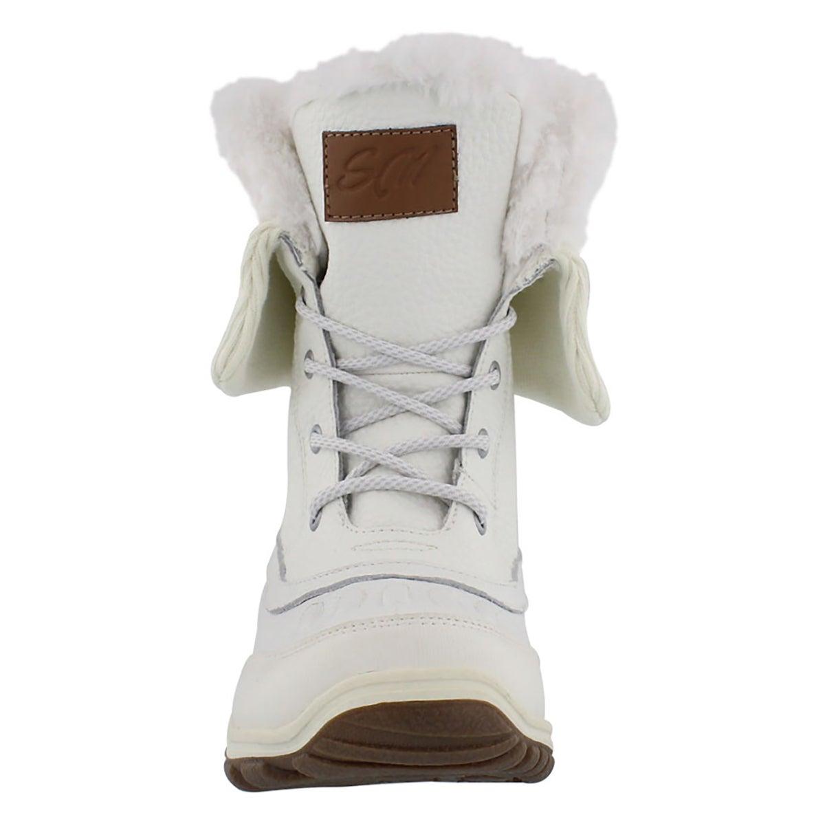Lds Damica white w/p foldover cuff