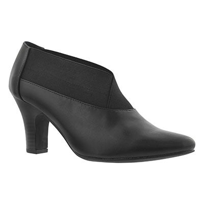 SoftMoc Women's DAMIE black slip on dress heels