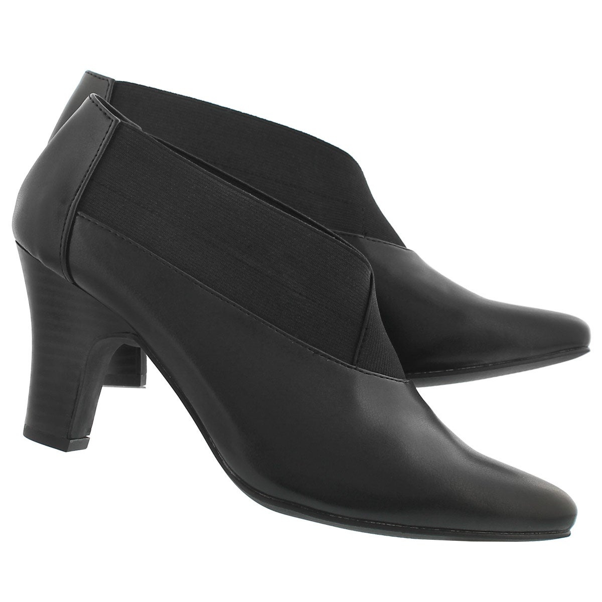 Lds Damie blk slip on dress heel