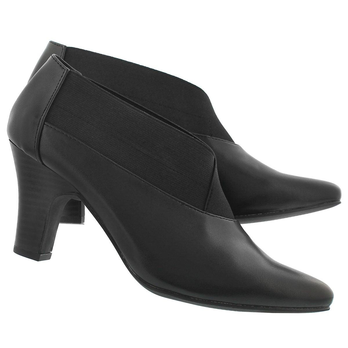 Lds Damie blk slip on dress heel