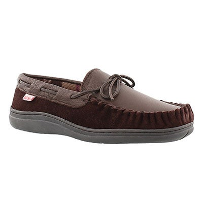 SoftMoc Men's DAMIEN dark brown lined leather moccasins