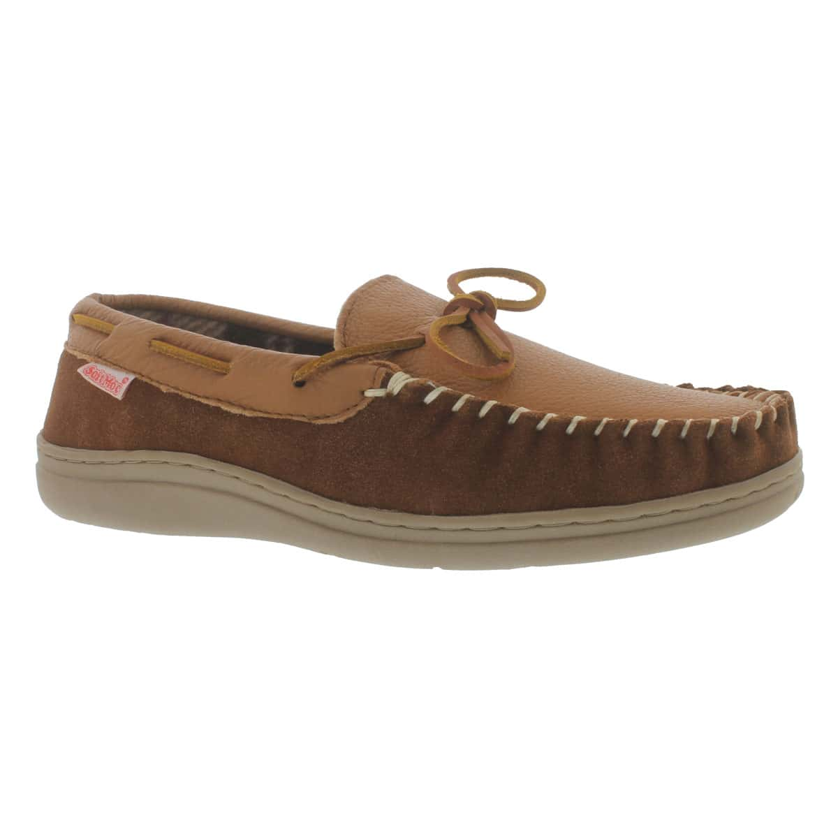 Mns Damien spice lined leather mocc