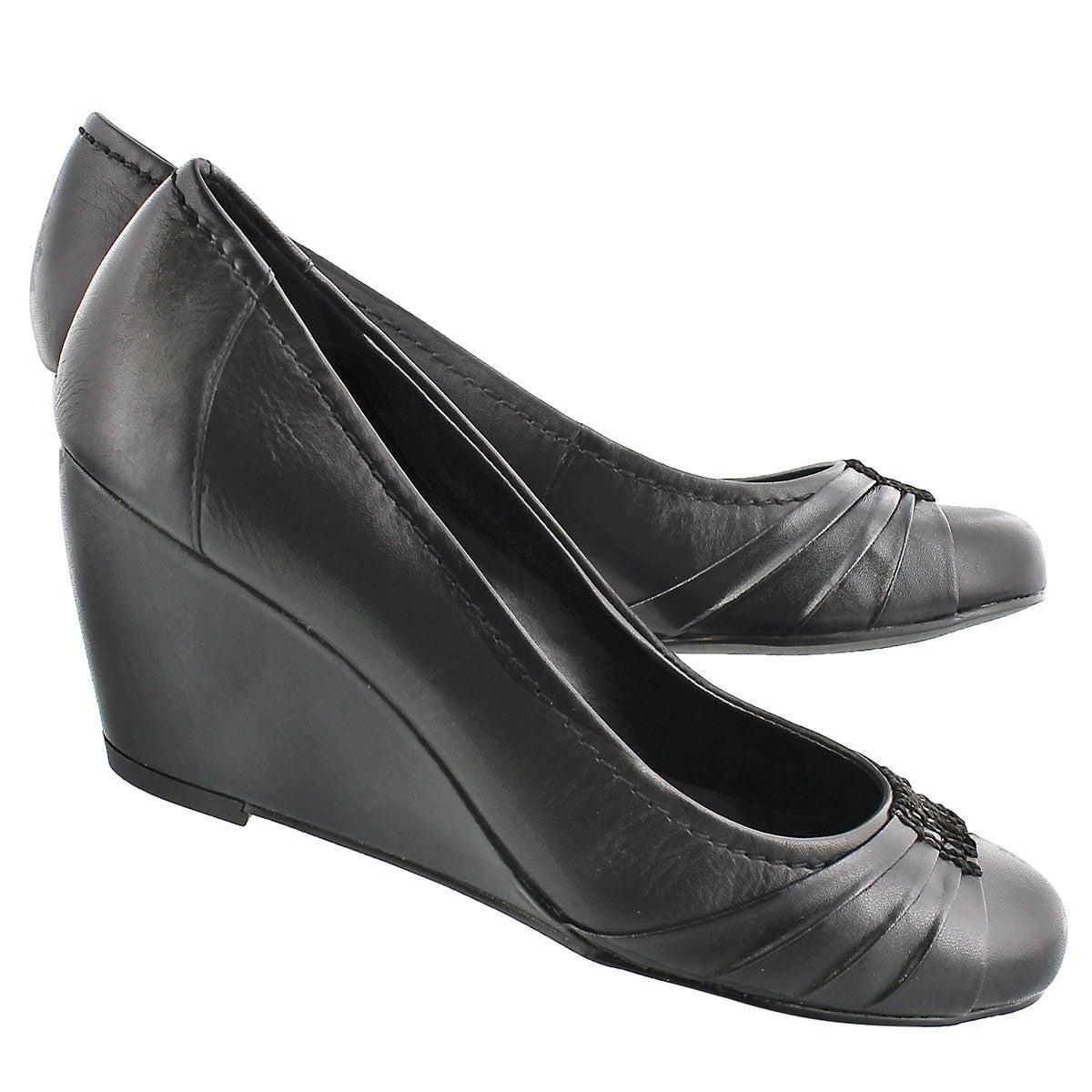 Chaussures compensées Dani noir, femmes