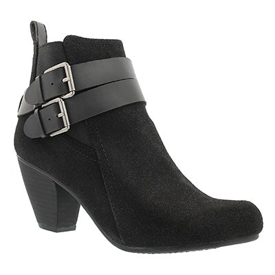 Lds Danica black lo dress ankle boot
