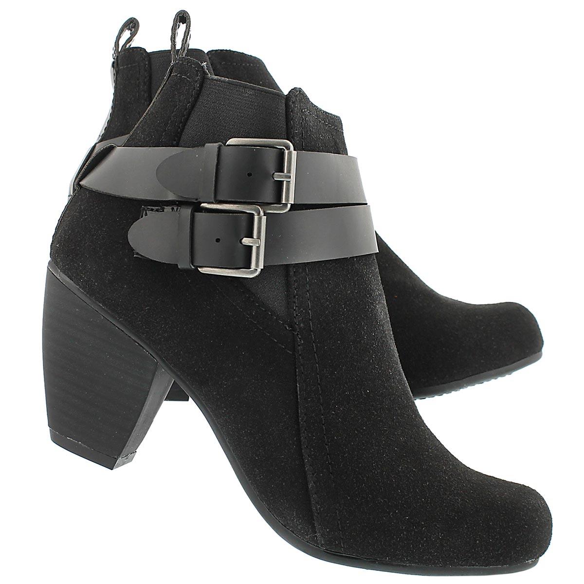 Lds Danica black lo dress ankle boot