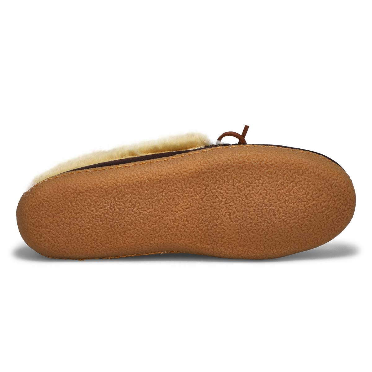 Men's DANIEL rootbeer crepe sole lined moccasins