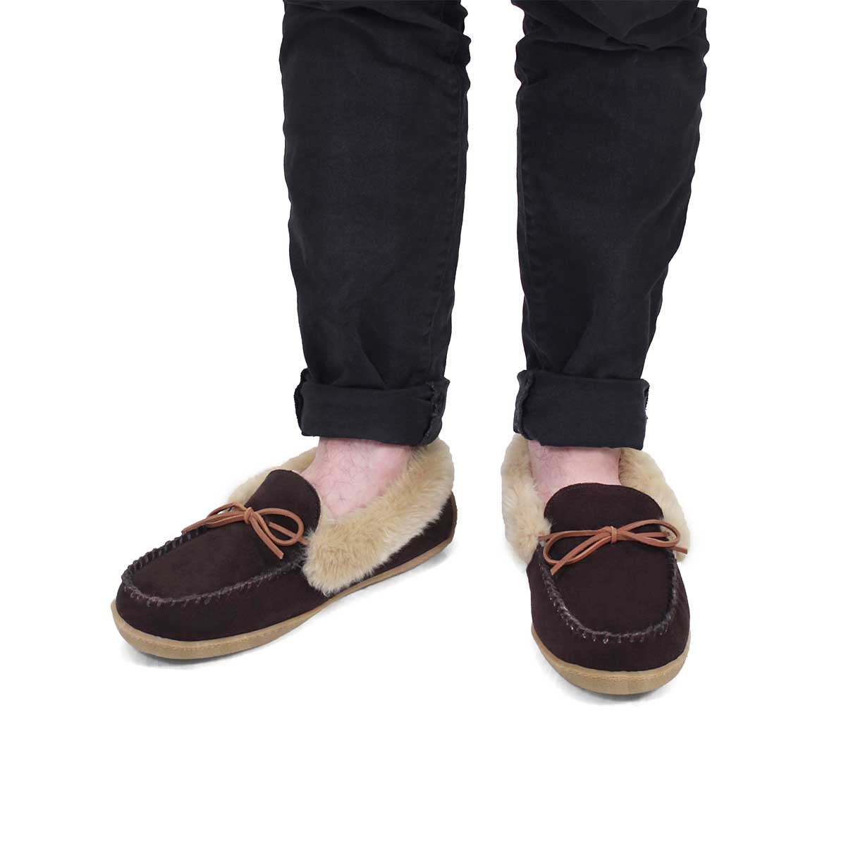 Mns Daniel rootbeer crepe sole lined moc