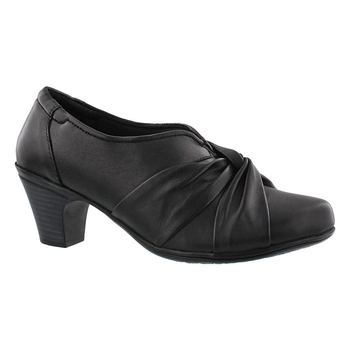 Lds Danielle black dress heel- wide