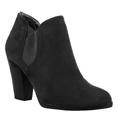 Lds Daphne black lo dress ankle boot