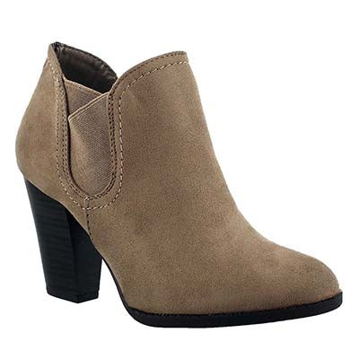 SoftMoc Women's DAPHNE cement low dress ankle boots