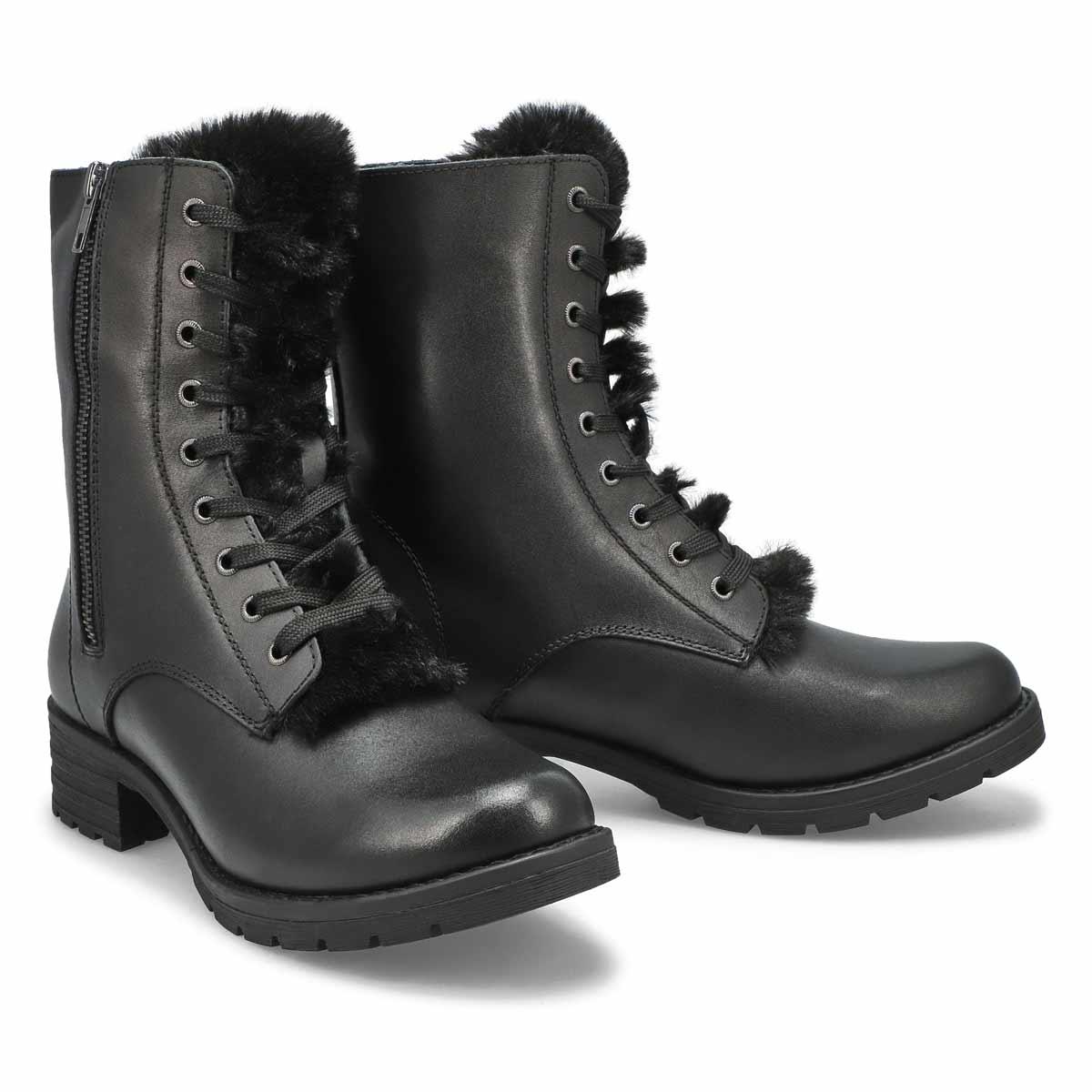 Lds Daphnie black combat boot