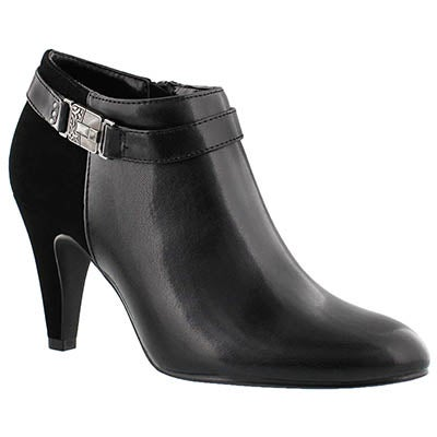 SoftMoc Women's DARCI black buckle dress booties
