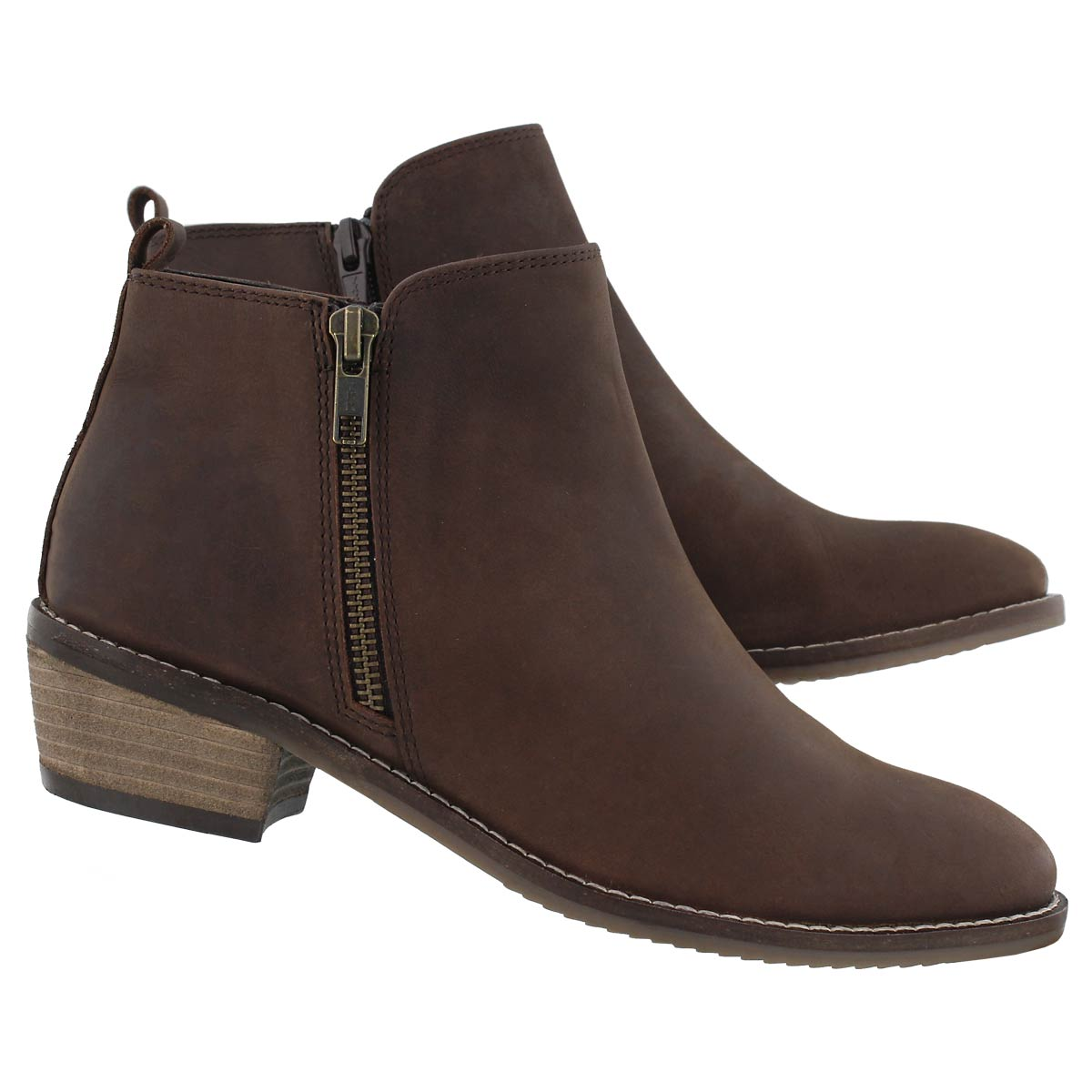 Lds Darcy brown side zip bootie