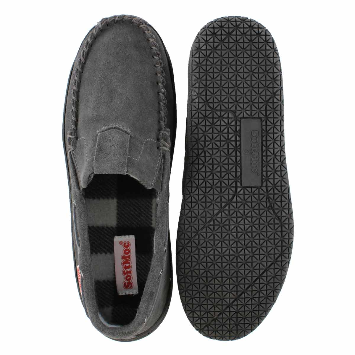Mns Darian charcoal suede moccasin