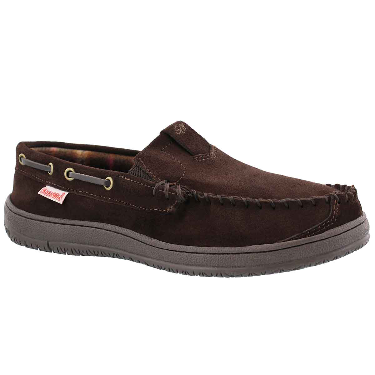 Men's DARIAN chocolate suede moccasins