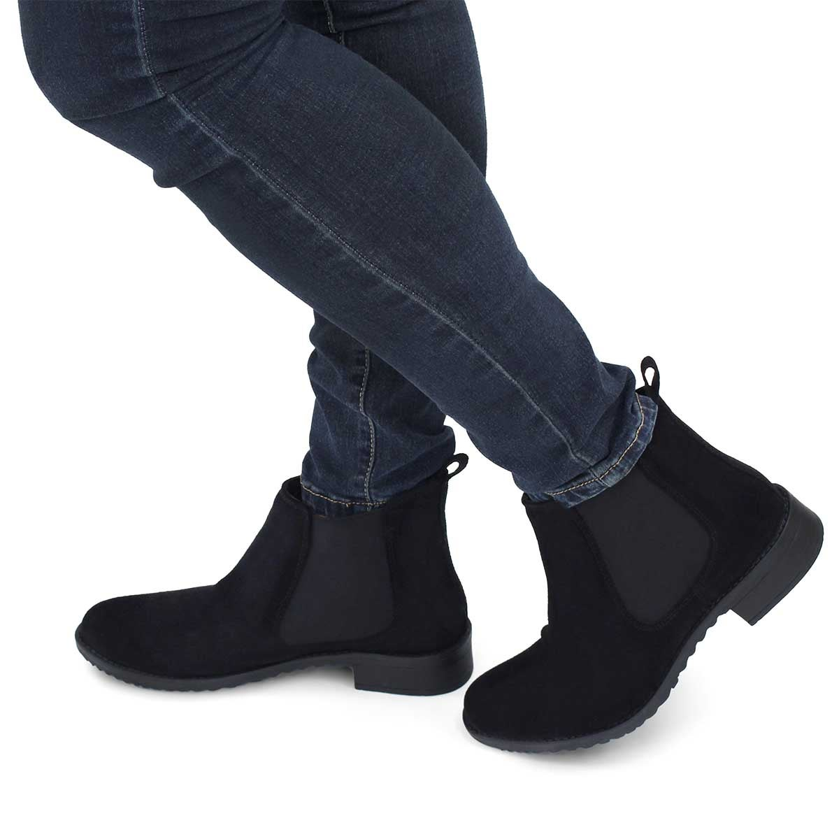 Lds Darilyn black chelsea boot