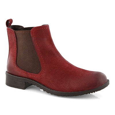 Lds Darilyn red chelsea boot