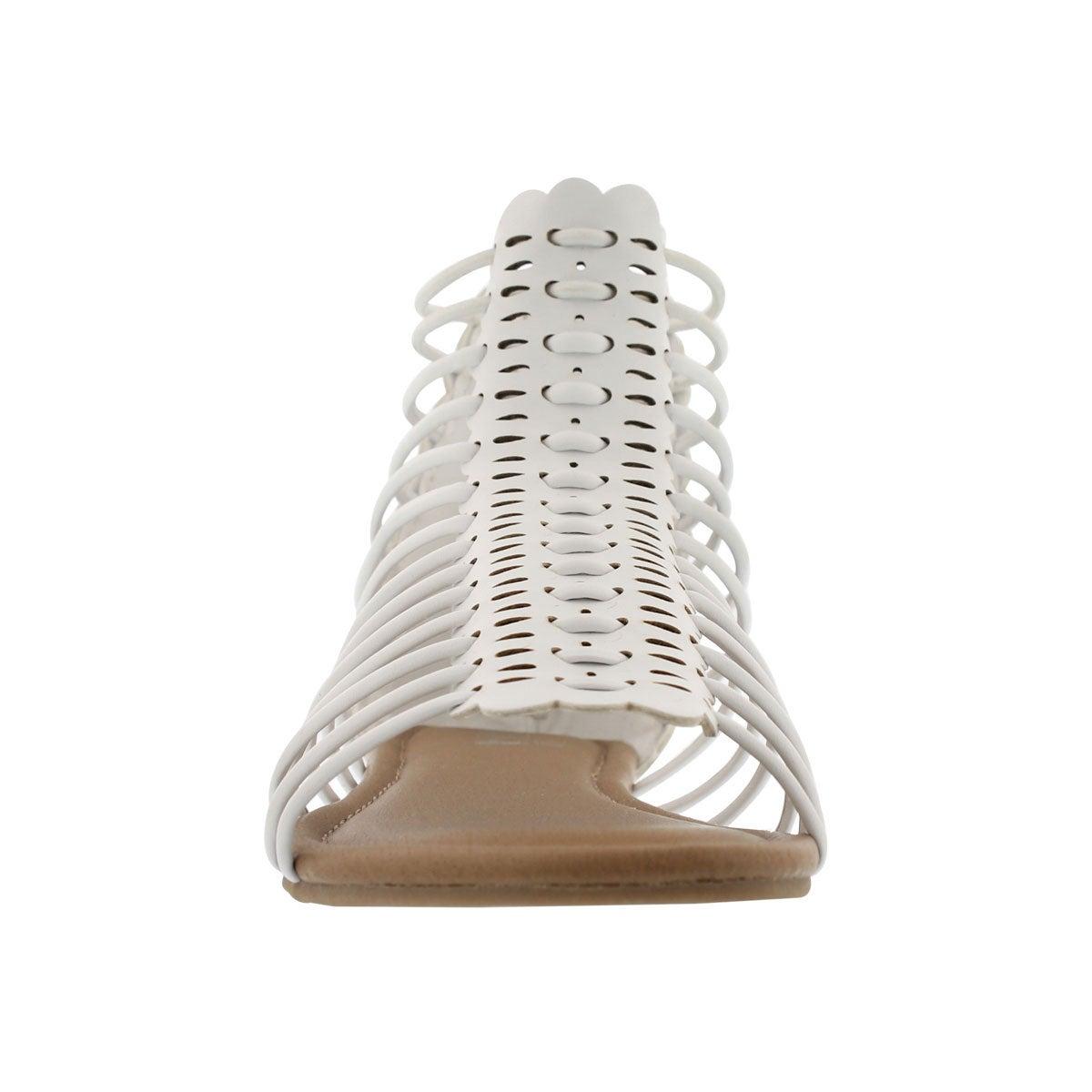 Grls Darla white casual sandal