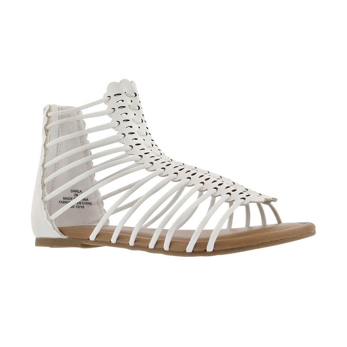 Girls' DARLA white casual sandals
