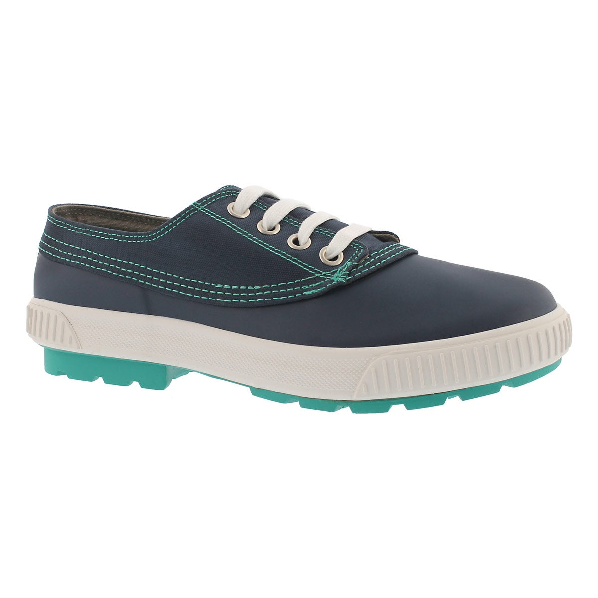 Women's DASH navy waterproof lace up duckies